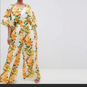 ASOS floral jumpsuit